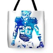 Saquon Barkley New York Giants Water Color Pixel Art 11 Tote Bag