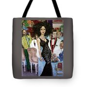 Satin Night Tote Bag