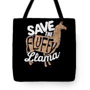 Save The Fluffy Llama Tote Bag