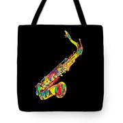 Saxophone Music Instrument Gift For Musician Color Designed Tote Bag