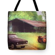 Scenes From The Past - Trucks And Tractors Tote Bag