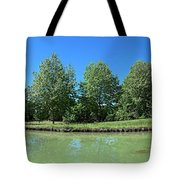 Scenic View Of Burgundy Canal Tote Bag