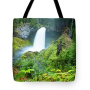 Scenic View Of Waterfall, Portland Tote Bag