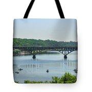 Schuylkill River View - Strawberry Mansion Bridge Tote Bag
