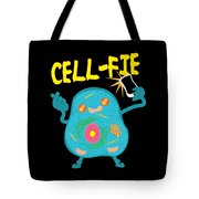 Science Nerd Shirt Cellfie Dad Joke Tote Bag