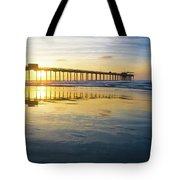 Scripps Pier Golden Hour 1 Tote Bag