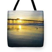 Scripps Pier Golden Sandpipers Tote Bag