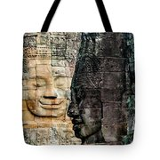 Sculptures At Bayon Temple, Angkor Tote Bag
