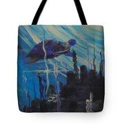 Sea Turtle Tote Bag by Saundra Johnson