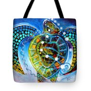 Sea Turtle Says Tote Bag