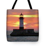Seagulls And Sunrise Tote Bag