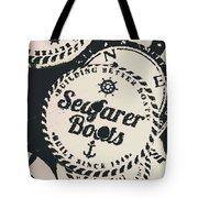 Seaside Sailors Badge Tote Bag