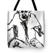 Seated Man Portrait Tote Bag
