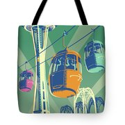 Seattle Poster- Space Needle Vintage Style Tote Bag