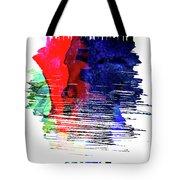 Seattle Skyline Brush Stroke Watercolor   Tote Bag