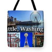 Seattle Washington Waterfront 01 Tote Bag