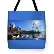 Seattle Washington Waterfront  Tote Bag