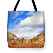 Sedona Jack's Trail Blue Sky, Clouds Red Rock Hills 5032 3 Tote Bag