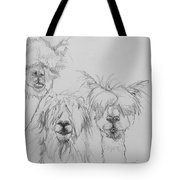 See No Evil Sketch Tote Bag by Jani Freimann