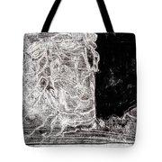 Self In Black Coloured Oil Transfer Drawing 11 Tote Bag