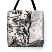 Self In Coloured Oil Transfer Drawing 12 Tote Bag