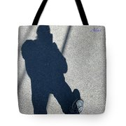 Self Portrait 19 - Balancing With My Shadow Tote Bag