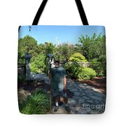 Self Portrait 20 - Aligned With A Half Moon Over Downtown Austin At Zilker Botanical Garden Tote Bag