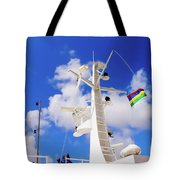 Semi-large Ship's Radar Tower And Headlights. Tote Bag