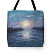 Serene River Sunset Tote Bag