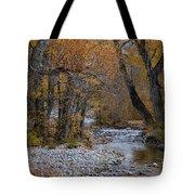 Serene Stream In Autumn Tote Bag