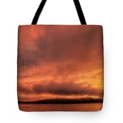 Shadowing Rib Mountain  Tote Bag by Dale Kauzlaric