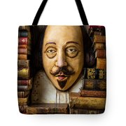 Shakespeare With Old Books Tote Bag