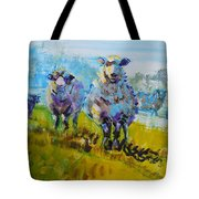 Sheep And Lambs In Bright Sunshine Tote Bag