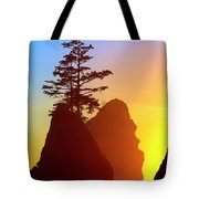 Shi Shi Sea Stacks Tote Bag