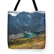 Ship Lake In Autumn Tote Bag by Tim Newton