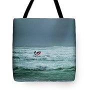 Shooting The Surf Tote Bag by Judy Hall-Folde