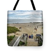 Shoreline Staircase By Uscg Station Chatham Cape Cod Massachusetts Tote Bag