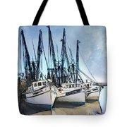 Shrimp Boats At Darien Tote Bag