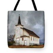 Shuttered Church In Cartwright North Dakota Tote Bag