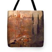 Siege Of A Castle 1910 Tote Bag