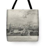 Siege Of The Citadel Of Antwerp Tote Bag