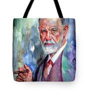 Sigmund Freud Portrait II Tote Bag