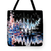 Signing Odd Blue Tote Bag by Don Northup