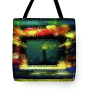 Silk-featherbrush Number 4 - All-night Vigil At The Lighthouse Blues Club Tote Bag