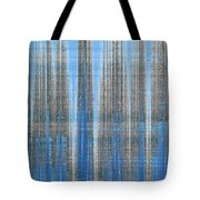 Silver Blue Plaid Abstract #4 Tote Bag by Patti Deters