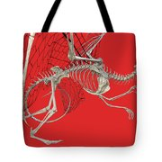 Skeleton Dragon With Red Tote Bag