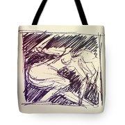 Sketch Of Woman Tote Bag