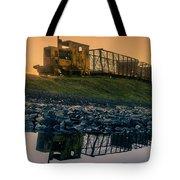 Sky Train Reflection Tote Bag