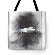 Slovak Government Flying Service Airbus A319-115 Painting Tote Bag