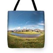 Small Lake In The Mountains Tote Bag